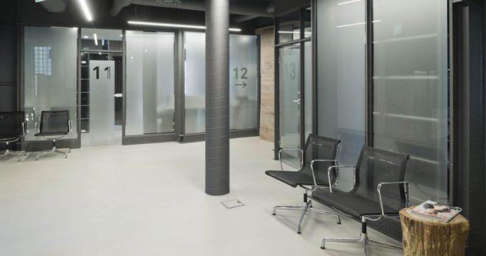 Betonspachtelboden im Augenklinik bei Mannheim
